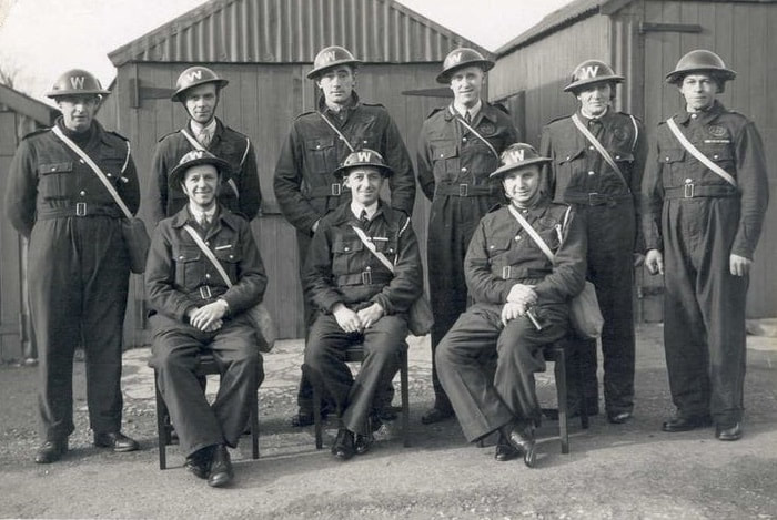 Early War ARP Wardens Wearing Bluette Overalls