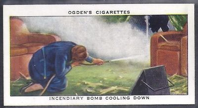 Incendiary Bomb Cooling Down - Ogden's Cigarette Card