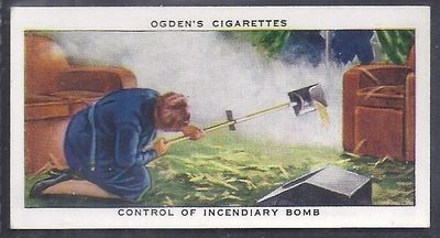 Control of Incendiary Bomb - Ogden's Cigarette Card