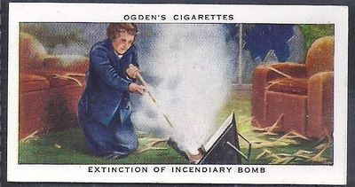 extinction of Incendiary Bomb - Ogden's Cigarette Card