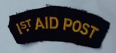 WW2 Civil Defence 1st Aid Post shoulder title (embroidered).