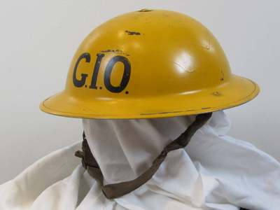 Civil Defence helmet for  Gas Identification Officer (GIO)