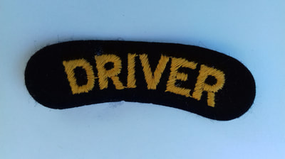 WW2 Civil Defence Driver Shoulder Title (Embroidered).