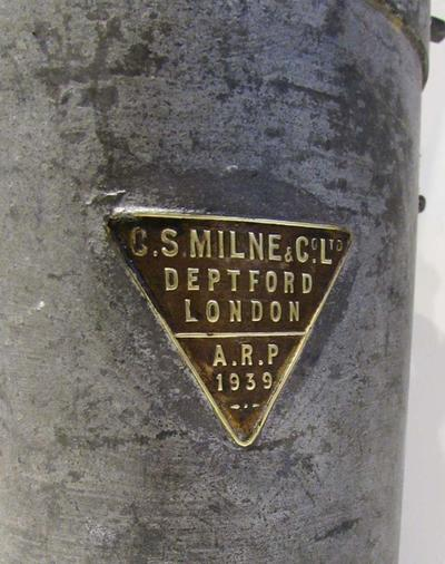WW2 ARP rescue services emergency carbide lamp - 1939 dated label.
