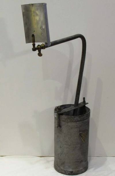 WW2 ARP rescue services emergency carbide lamp.