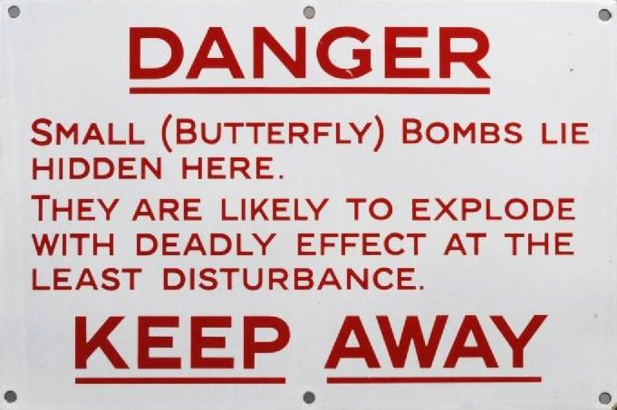Butterfly Bomb Sign