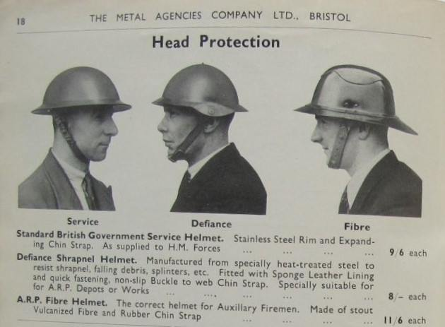 Advert for protective helmets.