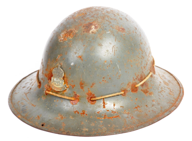 Fake Straits Settlements ARP Zuckerman helmet