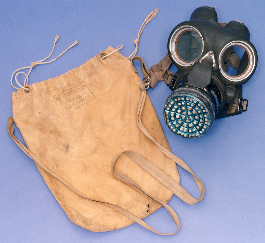 WW2 ​Civilian Duty Respirator (gas mask) (Caring on the Home Front).