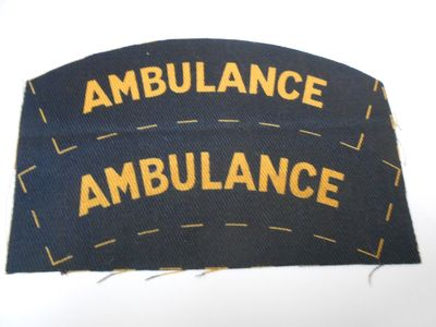 WW2 Civil Defence Ambulance Shoulder Title (Printed)