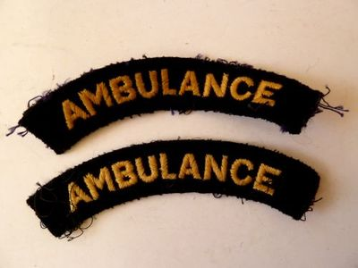 WW2 Civil Defence Ambulance Shoulder Title (Embroidered)