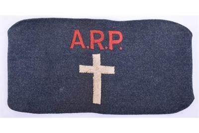 WW2 ARP chaplains armband.
