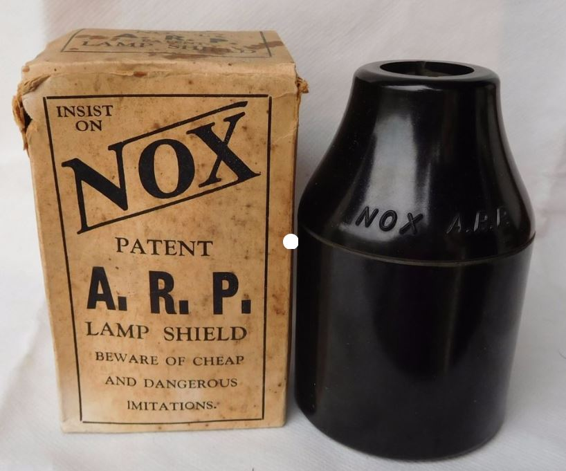WW2 NOX ARP Blackout Lamp / Light Bulb Shield