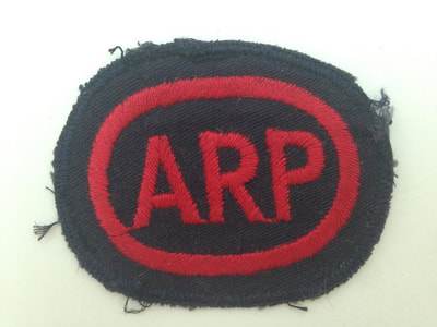 Embroidered Oval ARP Breast Badge (Blacked Out Britain)