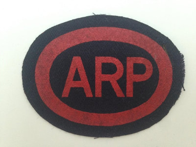 Printed Oval ARP Breast Badge (Blacked Out Britain)