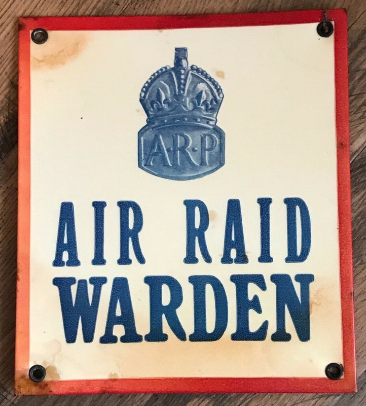 WW2 ARP Air Raid Warden Sign