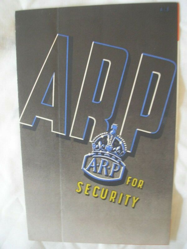 """ARP For Security"" Civil Defence Recruitment Pamphlet Cover"