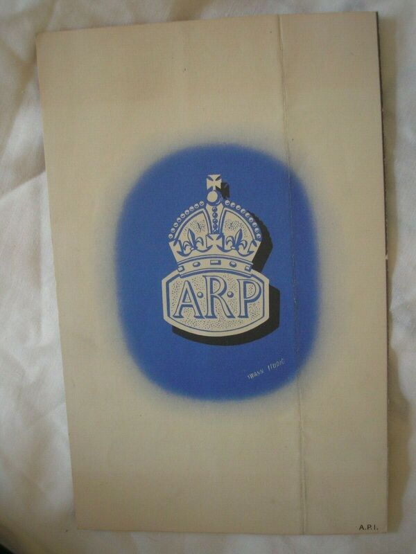 """ARP For Security"" Civil Defence Recruitment Pamphlet Rear"