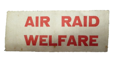 Air Raid Welfare armband.