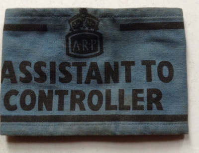 "WW2 Civil Defence ""Assistant to Controller"" armband."