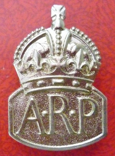 Marples & Beasley WW2 ARP Lapel Badge (Front).