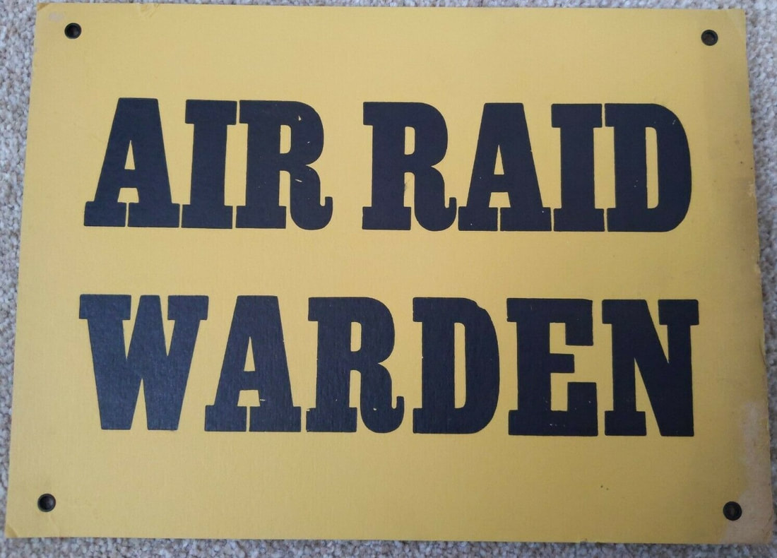 Barnet Air Raid Warden display sign