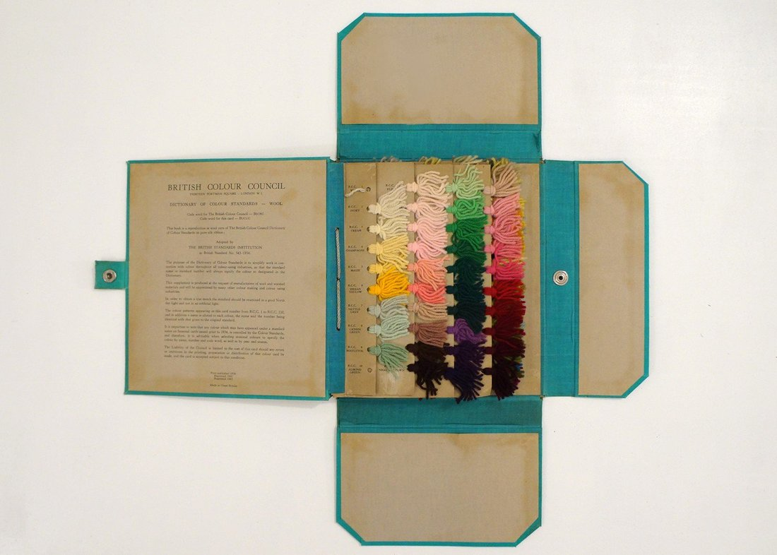 British Colour Council booklet containing samples of available colours.