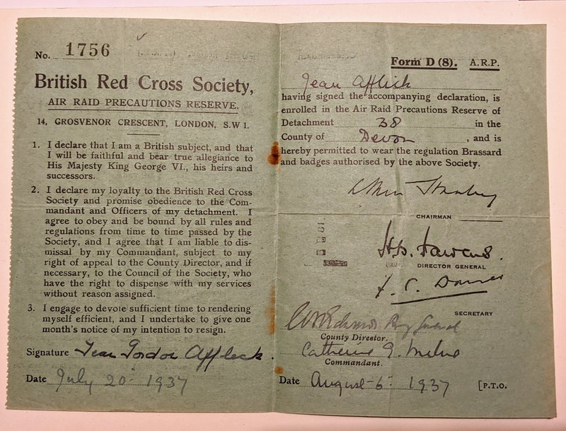 British Red Cross Society Certificate of Enrolment details