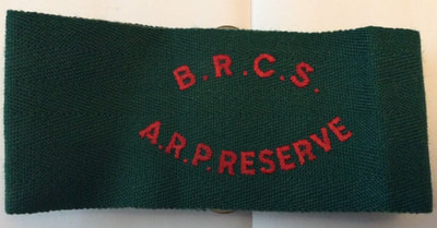 British Red Cross Society (BRCS) ARP Reserve Armband