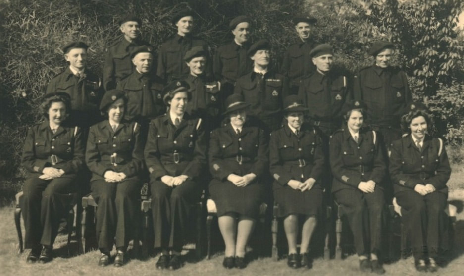 WW2 Group Portrait, Framlingham Wardens Service, Suffolk