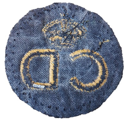 Standard pattern WW2 Civil Defence 'CD' Breast Badge (back).