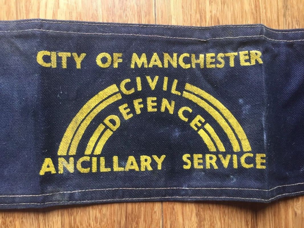 WW2 City of Manchester Civil Defence Ancillary Service Armband