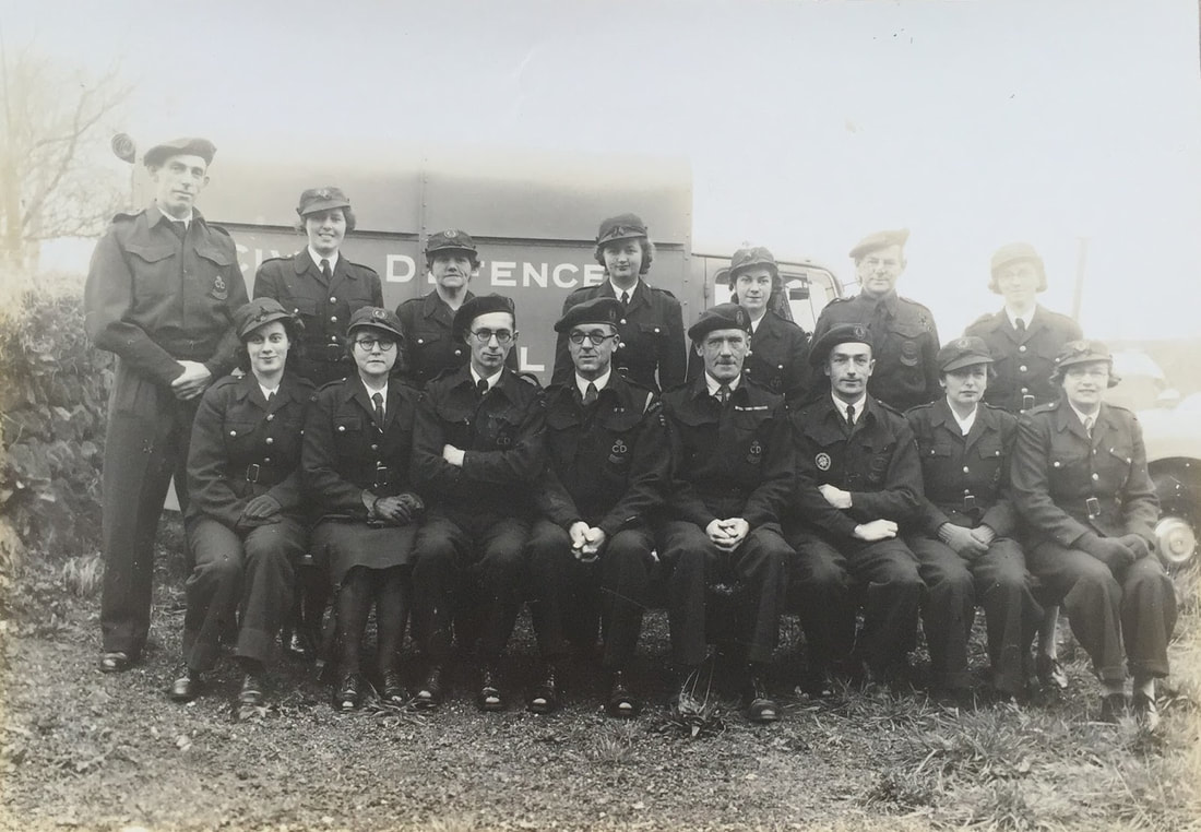 WW2 Civil Defence Group Portrait From Cornwall