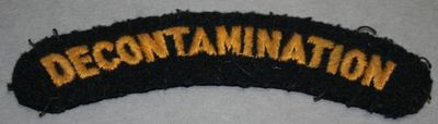 WW2 Civil Defence Decontamination shoulder title (woven).