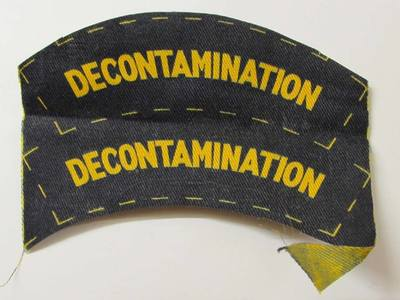 WW2 Civil Defence Decontamination Shoulder Title (Printed)