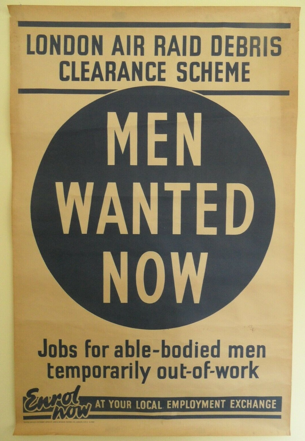 WW2 London Air Raid Debris Clearance Scheme Poster
