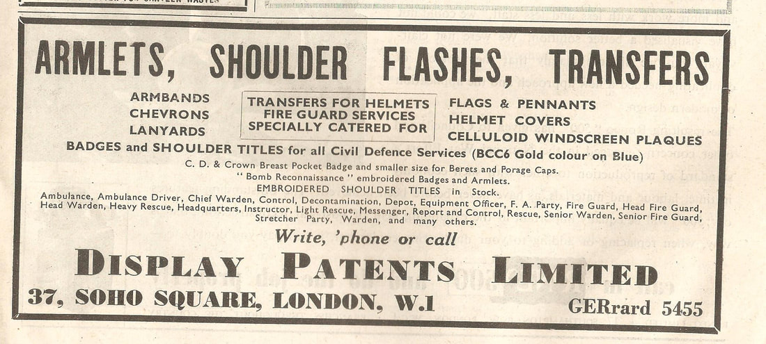 WW2 Civil Defence Armlets, Shoulder Flashes & Helmet Transfers
