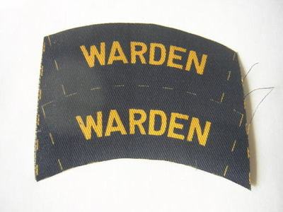 Printed Civil Defence ARP Warden Shoulder Titles