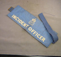 Incident Officer (IO) armband.