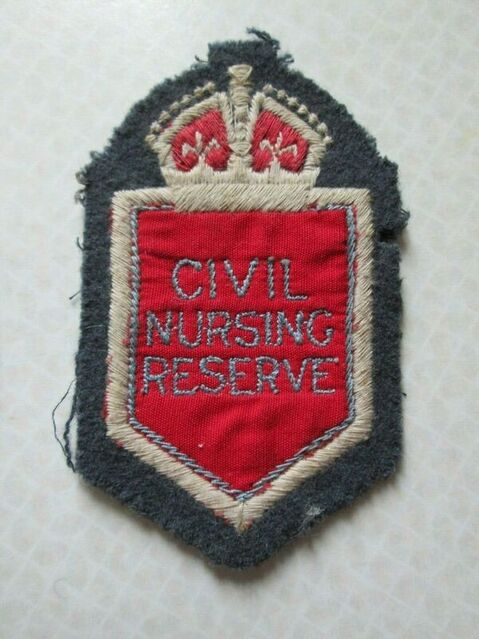 Civil Nursing Reserve Embroidered Greatcoat / Overcoat Badge