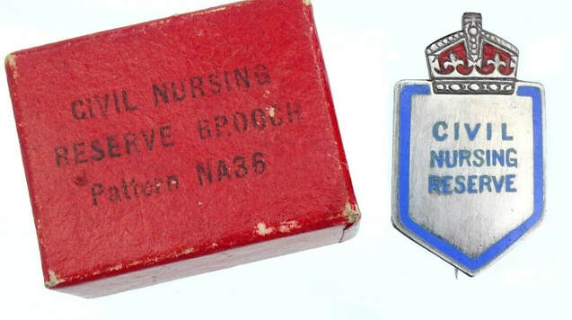 Civil Nursing Reserve Pattern NA36 Brooch Pin Badge