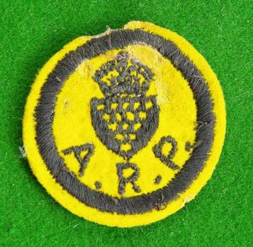WW2 ARP / Civil Defence Yellow Cornwall County Cap Badge