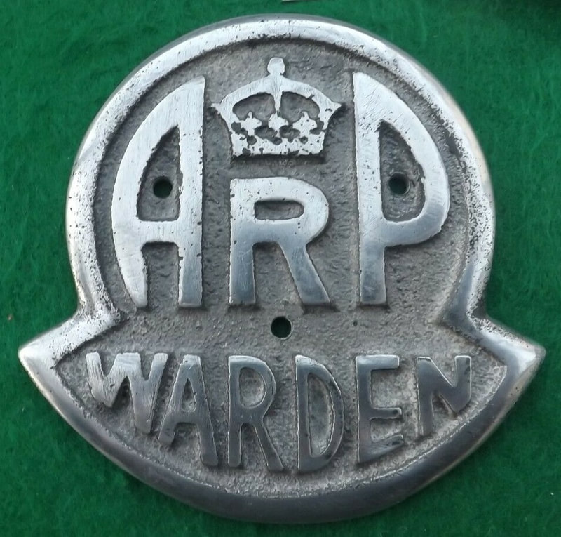 Fake WW2 ARP Warden plaque wall sign