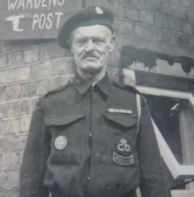 WW2 Fulham ARP Warden (close up)