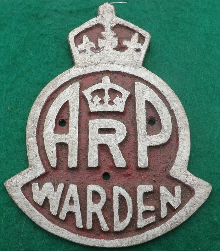 Fake WW2 double crown ARP Warden plaque wall sign