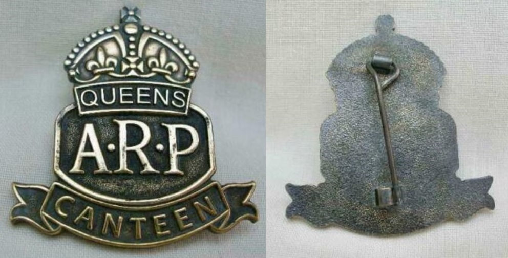 Fake ARP Queens Canteen ARP Badge (all metal)