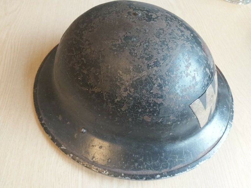 WW2 1938-dated Warden's Helmet