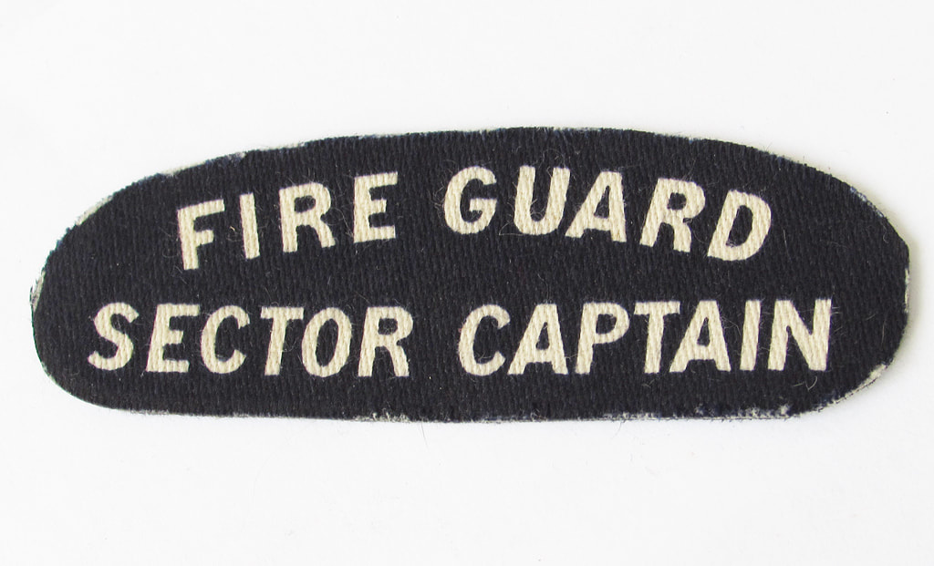 WW2 Fire Guard Sector Captain Shoulder Titles