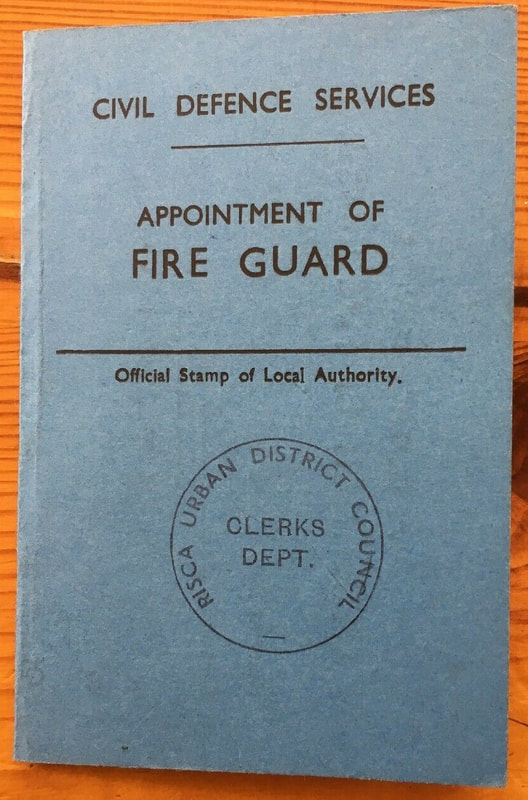 Fire Guard Appointment Card, 1943