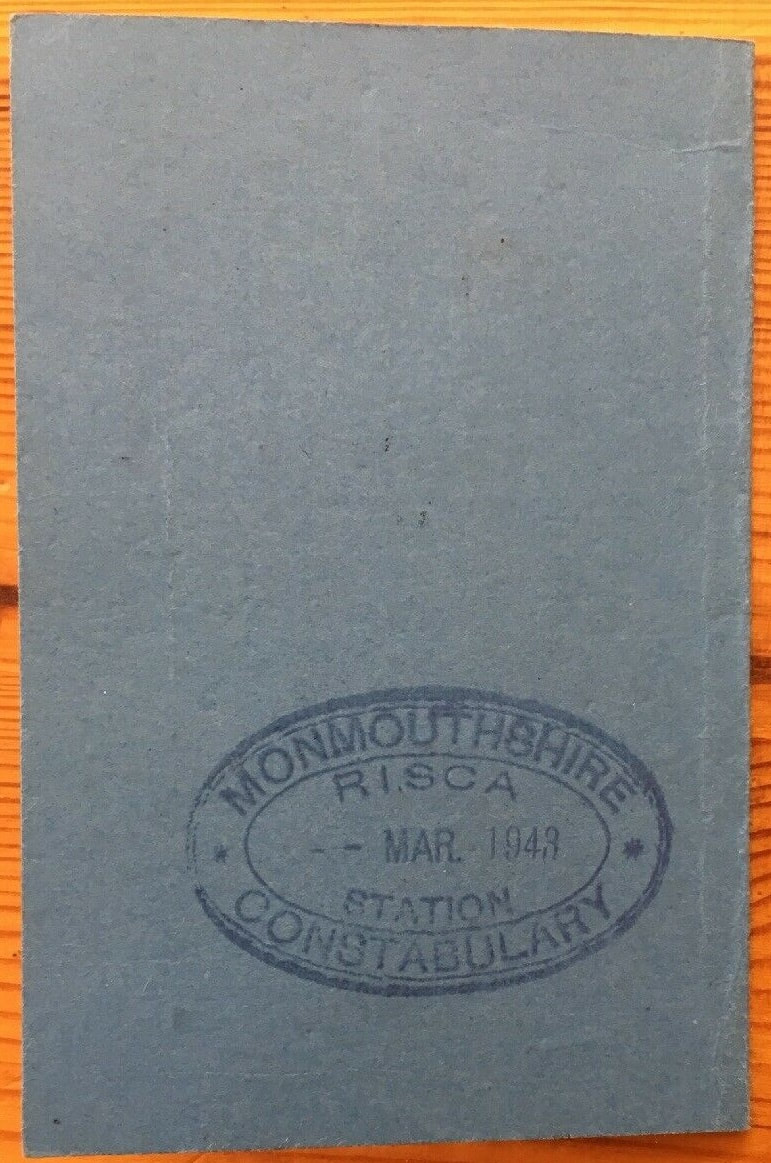 Fire Guard Appointment Card rear cover